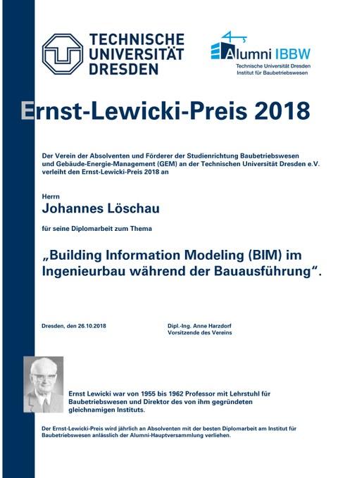 Lewicki-Preis für Herrn Löschau