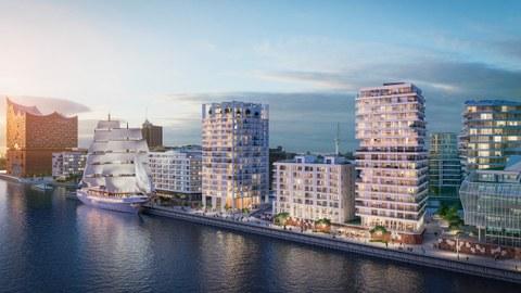 Ansicht Hamburg Strandkai