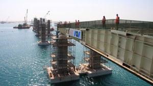 Brueckenbausstelle in Abu Dhabi