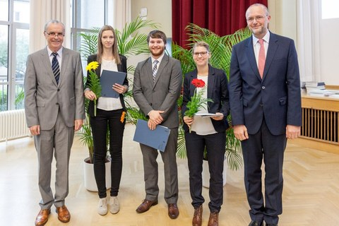 Photo shows the satisfied winners of the Gottfried Brendel Prize 2016