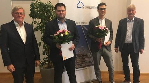 """Foto zeigt die Priesverleihung zum """"Preis der Bauindustrie Sachsen"""" 2020"""