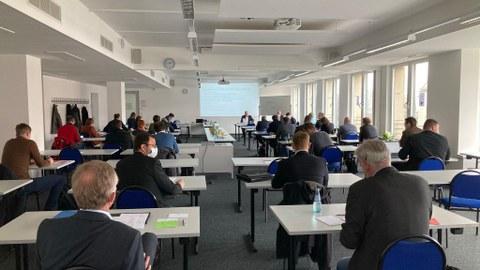 Foto zeigt die Mitgliederversammlung von C³-Carbon Concrete Compiste e.V. im März 2021