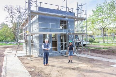 Die BOX steht nun, die Vorbereitungen für den nächsten Bauabschnitt starten Ende Mai.