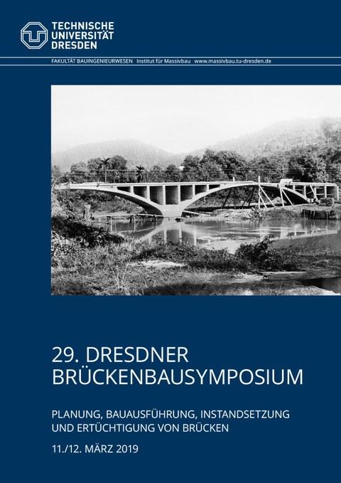 Bild zeigt das Deckblatt zum Tagungsband des 29. Dresdner Brückenbausymposiums