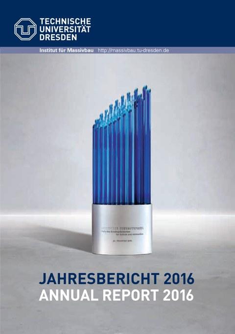 Bild zeigt das Deckblatt des Jahresberichts 2016