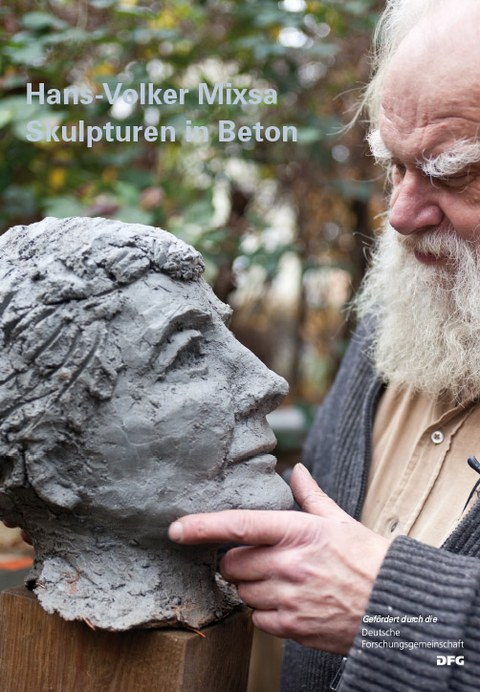 Picture shows the cover page of the catalogue Skulturen in Beton by Hans-Volker-Mixsa