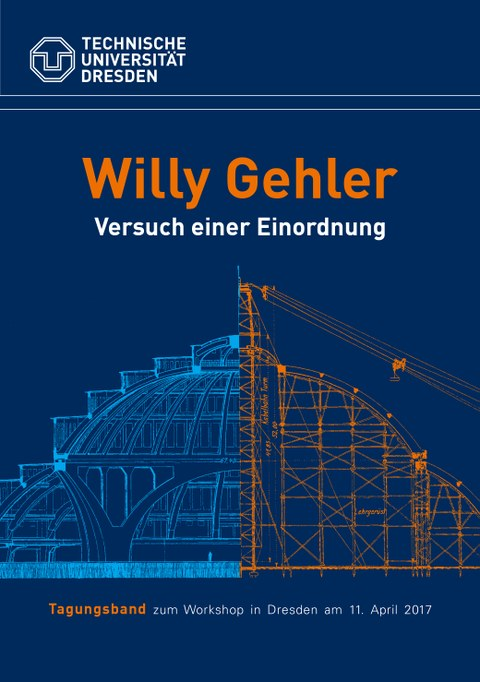 Picture shows the cover page of the publication Willy Gehler - Versuch einer Einordnung