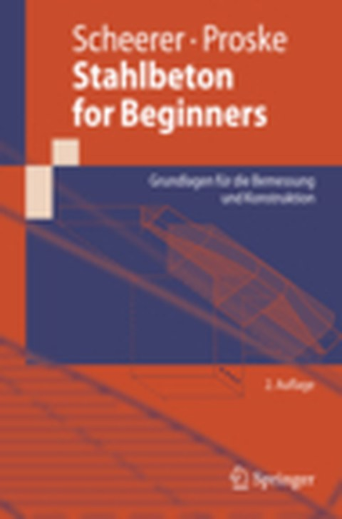 Picture shows the cover page of the publication Stahlbeton for Beginners