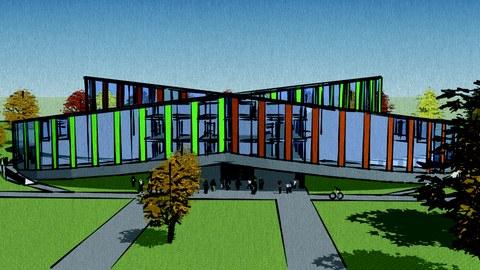 Entwurf Hörsaalgebäude