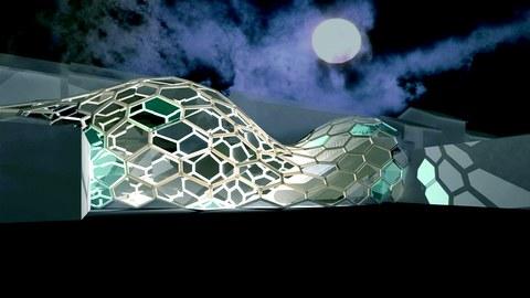 Entwurf eines freitragenden Daches