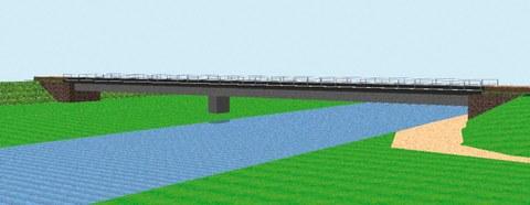 Vorzugsvariante für den Neubau der Elsterbrücke