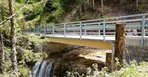Foto zeigt eine Beton-Verbundtragwerkbrücke für Schwerlasten in der Schweiz