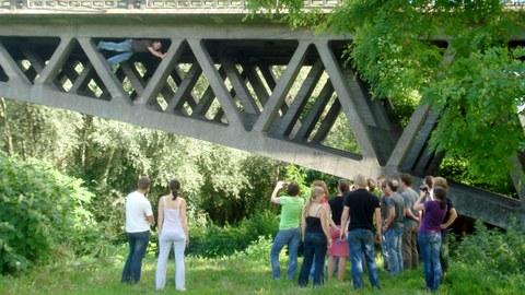 Massivbrücken zum Anfassen auf der jährlichen Brückenbauexkursion.