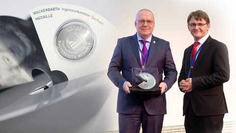 Prof. Manfred Curbach is awarded the Wackerbarth medal