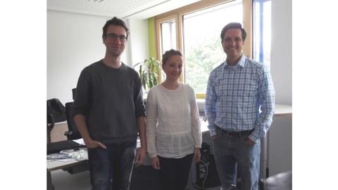 von rechts: Hr. Prof. Balzani, Fr. Dr. Rosic, Hr. Miska