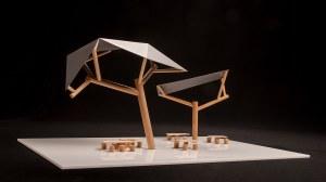 Studentisches Modell einer Solartankstelle