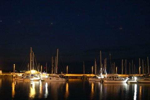 Blick auf den Hafen Stralsund