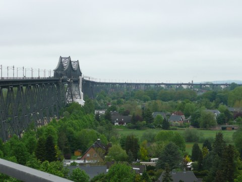 Ansicht der Eisenbahnhochbrücke Rendsburg