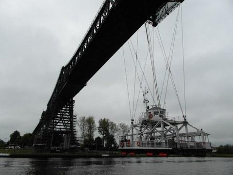 Schwebefähre an der Rendsburger Hochbrücke