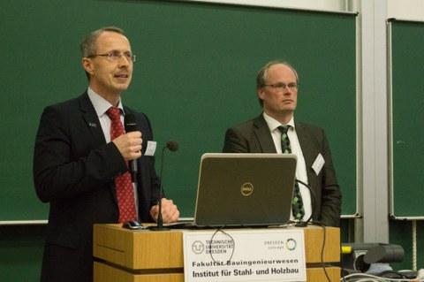 Prof. Dr.-Ing. Richard Stroetmann mit Prof. Dr.-Ing. Thiele