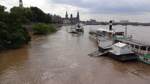 Hochwasser 2013 Elbe in Dresden