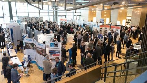 Blick in die Ausstellung des 42. Dresdner Wasserbaukolloquiums 2019