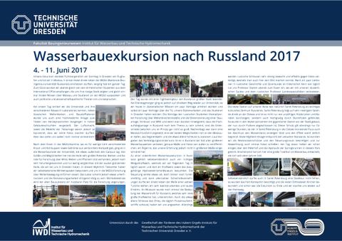 Poster der Wasserbauexkursion nach Russland 2017
