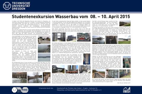 Poster der Wasserbauexkursion 2015