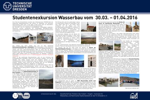 Poster Wasserbauexkursion 2016