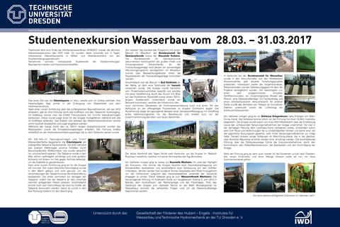 Poster Wasserbauexkursion 2017