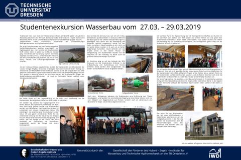 Poster der Wasserbauexkursion 2019