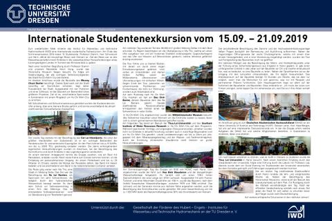 Poster der Wasserbauexkursion nach Vietnam 2019
