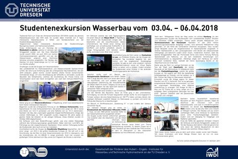 Poster Wasserbauexkursion 2018