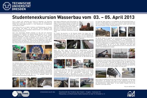 Poster der Wasserbauexkursion 2013