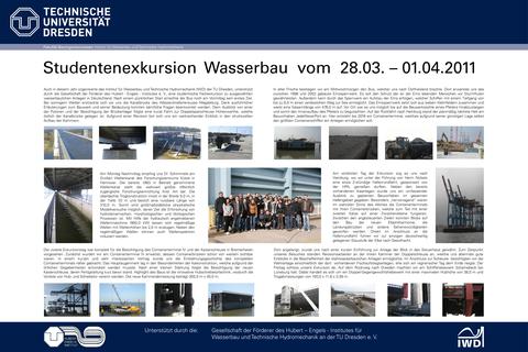 Poster der Wasserbauexkursion 2011