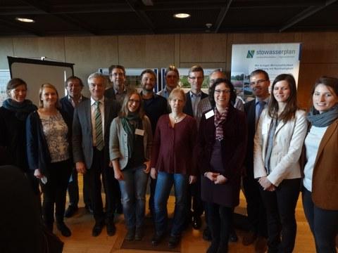 Forschergruppe des Verbundprojektes in StröHmunG während der ReWaM-Statuskonferenz vom 25.-26.01.2017