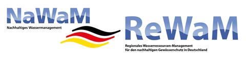 Logo NaWaM nachhaltiges Wasserressourcen Management und ReWaM Regionales Wasserressourcen-Management für Deutschland