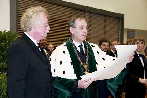 Verleihung der Ehrendoktorwürde durch den Rektor der TU Dresden, Prof. Hermann Kokenge