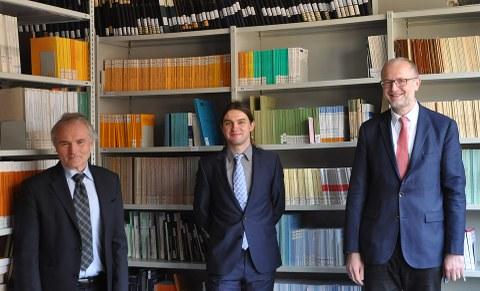 von links: Prof Wellner, Markus Uhlig, Prof. Herle