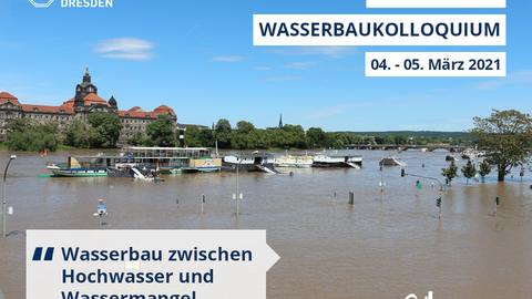 Elbe Hochwasser, überschwemmte Uferstrasse