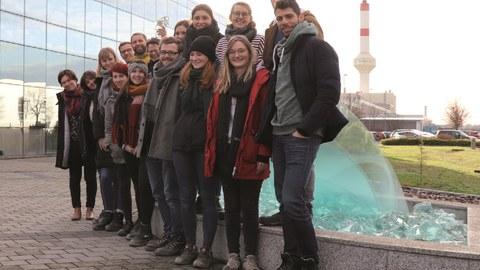 Studierende mit dem Institut für Baukonstruktion der TU Dresden unterwegs
