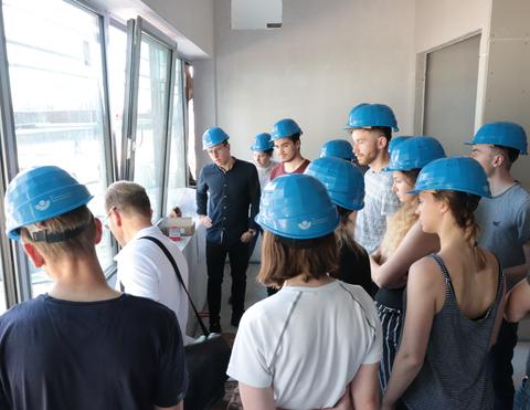 Teilnehmer der Glasbauexkursion