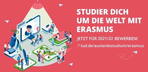 Bewerbungsplakat Erasmus