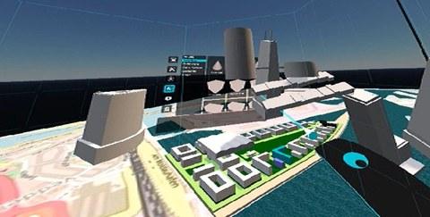 3D-Ansicht einer Stadtplanungsidee auf der Plattform von U_CODE.