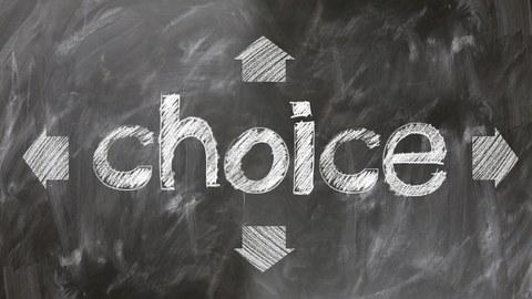 Tafel Schriftzug choice
