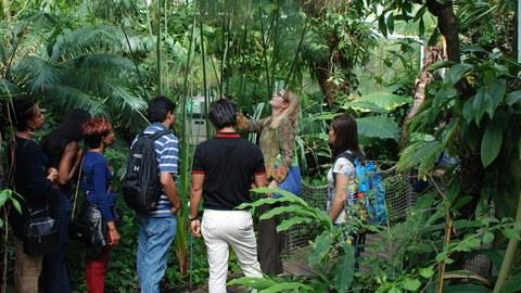 Participants with facilitator in the Botanical Garden Dresden