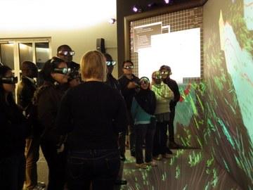 Course participants with 3D glasses