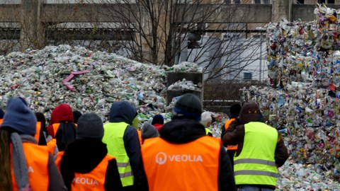 participants at a waste management facility