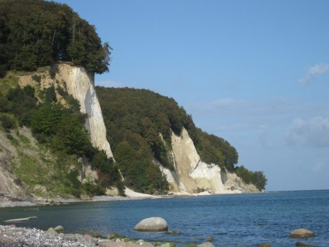 View of the chalk cliffs in the Jasmund National Park
