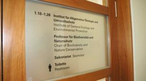 Schriftzug Institut für Allgemeine Ökologie und Umweltschutz